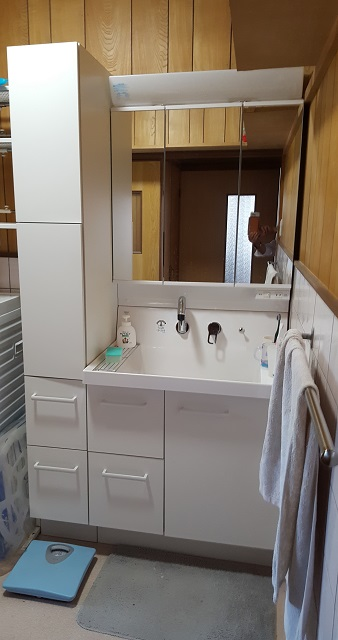 赤穂市 洗面室を改修