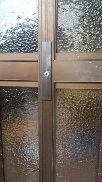赤穂市 玄関引戸錠の取替