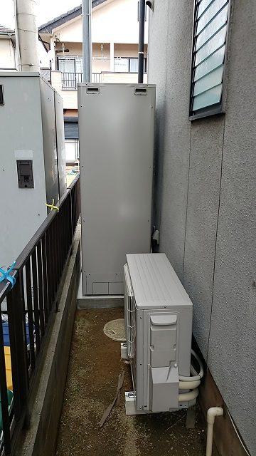 赤穂市 ガス給湯器からエコキュートに取替