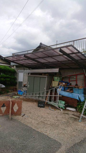 姫路市 飾磨区中島 波板張替工事