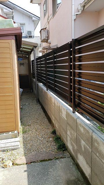 赤穂市 フェンスを設置