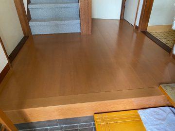 姫路市 玄関廊下 床貼替工事